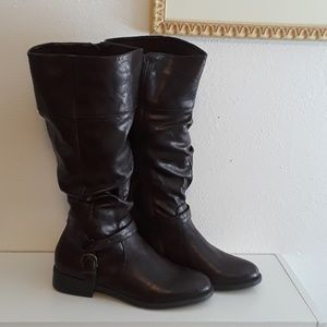Womens 11m tall faux leather boots